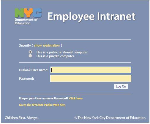 nyc doe payroll portal